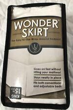 Wrap-Around Wonderskirt King Bed Skirt in White