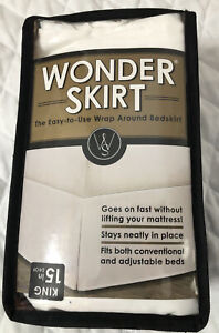 Wrap-Around Wonderskirt King Bed Skirt in White