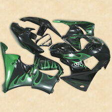 Green Flames ABS Bodywork Fairing Kit For Honda CBR900RR 919 1998-1999 12A New