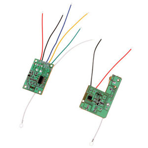 27MHZ Remote Controller Receiver Transmitter Board w/ Antenna Set Accs