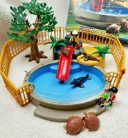 Playmobil Geobra Vintage 3650 Seal Life Aquarium Zoo Animal Figures Pool *RARE*