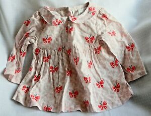 John Lewis long sleeved butterfly dress - age 0 - 3 months