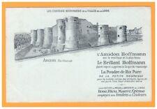 Publicité ENCAUSTIQUES Amidon Poudre de riz Brillant HOFFMANN / CHATEAU d'ANGERS