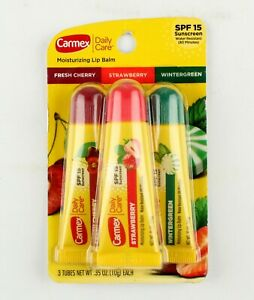 *Carmex 3-Pack Daily Care Lip Balm SPF15 Cherry Strawberry Wintergreen