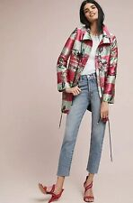 Anthropologie PatBo Jacquard Floral Stripe Jacket Size Small