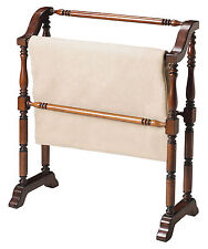 Plymouth Quilt Stand - Blanket Rack - Plantation Cherry Finish - Free Shipping*