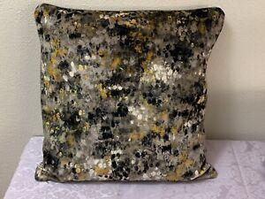 """DRANSFIELD & ROSS New York Velvet Multicolor Pillow Cover, Linen Back 21""""x21"""""""