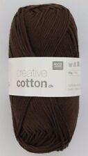 Lanas e hilos color principal marrón de algodón
