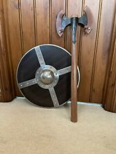 """More details for 22"""" reproduction viking re-enactment shield & axe costume stage or prop"""