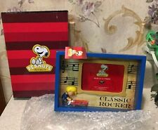 """Peanuts Charlie Brown Snoopy """"Classic Rocker"""" Picture Frame Schroeder Piano 3D"""