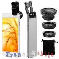 3in1 lens fisheye lens macro for smartphone telephone tablet black