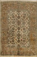 Traditional Floral Agra Oriental Area Rug Hand-Knotted Wool 8x10 Kitchen Carpet