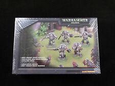 40K Gris Knight Marines Espaciales Squad (5) De Metal Conjunto en caja sellada