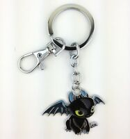 How To Train Your Dragon The Movie Night Fury Toothless Metal Key Chain Ring New
