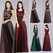 Ever-Pretty Sleeveless Lace Long Bridesmaid Dresses Mesh Evening Dresses 07545