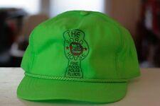 Rare Vtg Neon Green The Road House Fine Food Folks Fluids Rope Bill Snapback Hat