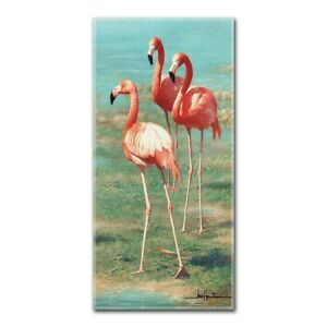 New Pink Flamingo Beach Bath Pool Gift Towel Shore Ocean Bird Marsh 3 Flamingos
