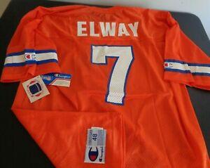 JOHN ELWAY Denver BRONCOS Vintage CHAMPION Replica Size 48 Jersey NEW Orange NFL