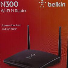 Belkin F9K1007 300Mbps Wireless-N 300 4 Port Router w/ 2 Antennas WiFi - Black