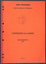 CONSIGNES DE LIGNES - DEGAGEMENTS ETF - 1990 AIR FRANCE - AVIATION AERONAUTIQUE