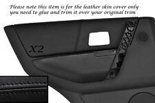 Black stitch 2x carte de porte arrière en cuir couvre fits Landrover Freelander 04-06