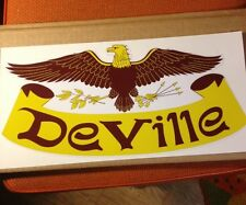 """DeVille Travel Trailer Camper Coach Decal New Yellow Brown14"""" X 7"""" one decal"""