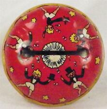 Vintage Tin Noisemaker Toy Kirchhof Bell Men Women Top Hats Dancing New Year Eve