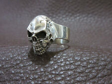 Schädel Skull Totenkopf Memento Mori 925 Sterling Ring Rockabilly Gothic Gr 69