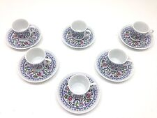 12 Pcs Flowered Ceramics Turkish/Arabic Coffee/Expresso Cups & Saucers