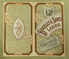 More details for antique buckley leeds clothing advertising cover design proof 19th century