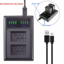 Battery LED USB DUAL Charger for Panasonic Lumix DMW-BMB9 DMW-BMB9e DMW-BMB9PP