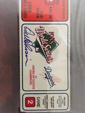 Orel Hershiser Auto 1988 World Series Game 2 Ticket Stub - PSA/DNA 10 - Dodgers