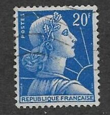FRANCE POSTAL ISSUE - DEFINITIVE USED STAMP 1957 LIBERTY - MARIANNE DE MULLER