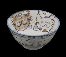 Bol Chat Japonais Maneki Neko 13.3 Cm -ceramique Du Japon-made In Japan -490
