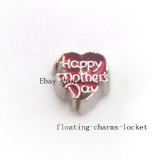 10pcs Happy Mothers Day Charm for Memory Glass Locket Free Shipping FC1312