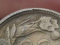 1858 Flying Eagle Penny Cent- Large Letters, Die Crack, VG Details