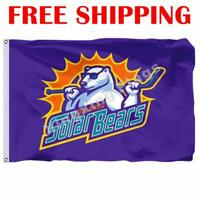 Orlando Solar Bears Logo Flag ECHL Hockey League 2018 Banner 3X5 ft