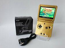 Game Boy Advance SP *NEW* Zelda Gold IPS-v2 Screen Nintendo GBA Gameboy Boxed