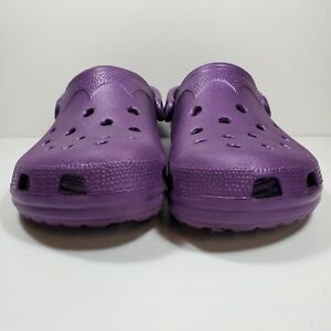 CROCS Unisex Classic Clogs Large Men 8-9 Women 10-11 Purple Slip On