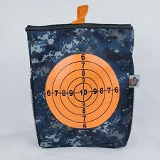 Rival Series Target Pouch Storage Carrying Case Blue Gray Mesh Side Pockets New
