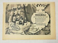 Pubblicità 1947 VINO BARONE RICASOLI FIRENZE WINE ITALY advertising publicitè