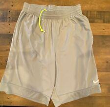 Men's NIKE Grey Basketball Shorts XL Extra Large DRI FIT
