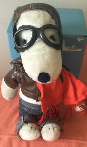 VINTAGE 1970s PEANUTS SNOOPY (RED BARON)  SOFT PLUSH TOY