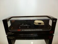 MALIBU INT. ALFA ROMEO SPIDER 1300 JUNIOR + CARAVAN - BLACK 1:87 - GOOD IN BOX