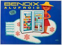 Original Vintage Poster - Herve Morvan - Bendix - Alufroid - Fridge - 1960