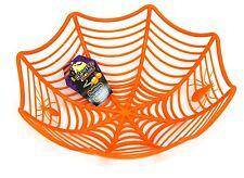 In plastica di Ragno Ragnatela CIOTOLA TAVOLA Halloween Festa Decorazione ~ Arancione