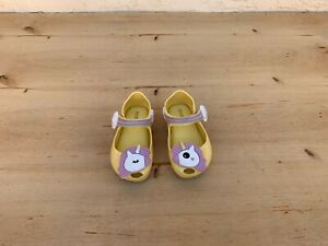 LAST PAIR 6-12 mos  yellow mary janes baby girl shoes yellow flower mary jane baby booties toddler mary janes elastic shoes for baby girl