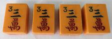 VINTAGE MAHJONG MAH JONG JONGG Caramel Characters Tiles Set #3