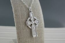 Sterling Silver Irish Ahenny Celtic Cross Made in Ireland  by FADO