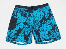 J.Crew Navy Blue Floral Beach Swimsuit Swim Board Shorts Mens 34